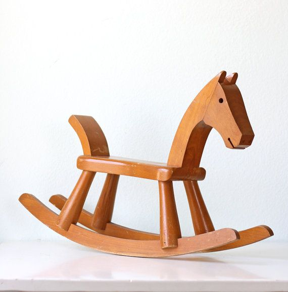 Mid Century Rocking Horse by bellalulu on Etsy