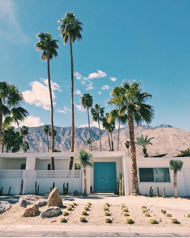 Inspired by the landscapes of Palm Springs || Dreamy house via @whitneybearr  #palmsprings #exploremore #beachgoldinspo