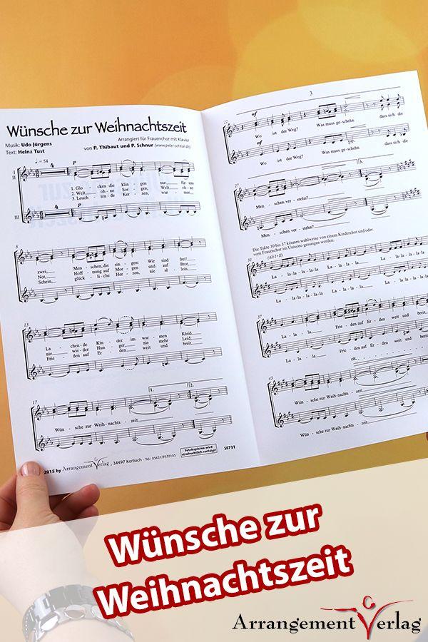 Wünsche zur Weihnachtszeit für Männerchor ✓ Beliebtes ...