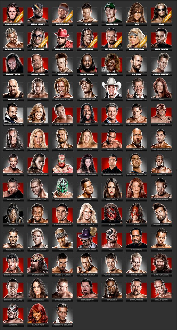 WWE 13 Complete Rosters. Is it possible to love something so much that it takes up ALL your time????