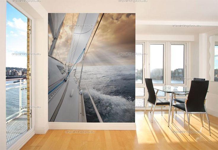 Fototapet Sport, Posters & Canvastryck Segelbåt (1567sv)