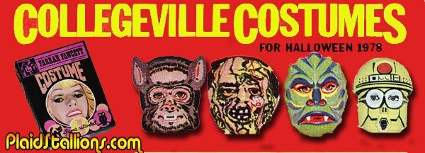 When it came to Halloween costumes, the two biggest names in the 70's were Ben Cooper & Collegeville. If one didn't have a specific license, the other surely did.  In the mid seventies, Ben Cooper had a lock on some licenses namely The Universal Monsters and DC, Marvel Superheroes. 1978 saw Collegeville grab new TV licenses such as the Hardy Boys, Nancy Drew, Shirley and Farrah Fawcett. Lots of effort was to be put into generic science fiction offerings to compete with Star Wars