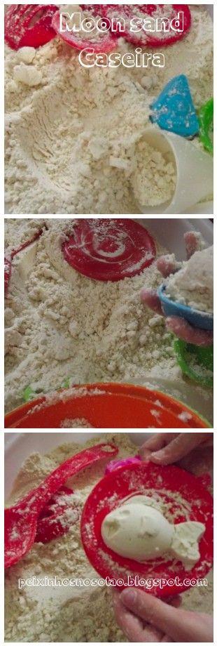 Moon sand caseira