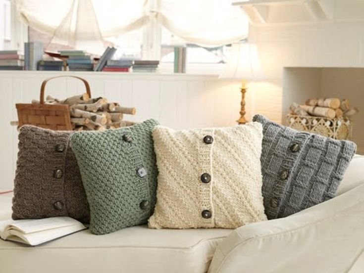 recycled sweater pillows - cute. Going to do this with one of my grandpas old sweaters and a corduroy jacket.