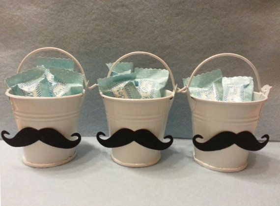 12 Little Man Baby Shower Mustache or Bows Buckets Favors // Birthday Party // Baby Shower on Etsy, $38.31 AUD