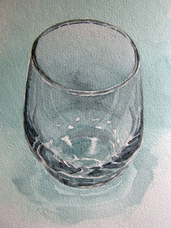Glass in watercolour by