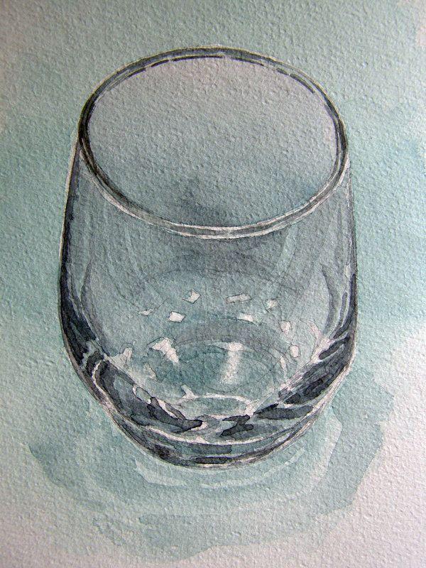 Glass in watercolour by Mad-Margaret.deviantart.com on @deviantART