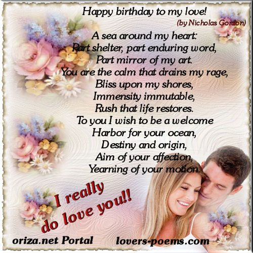 Best 25+ Romantic Birthday Poems Ideas On Pinterest