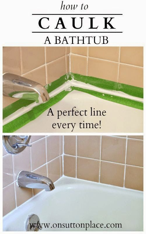 Instructions for how to caulk a bathtub that are easy to for Bathroom caulking service