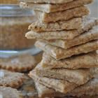 Homemade wheat crackers...easy, and without all of the bad stuff in normal crackers.