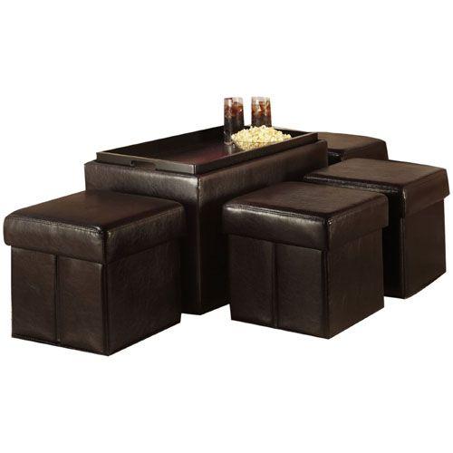 6 New Storage Bench Ottoman