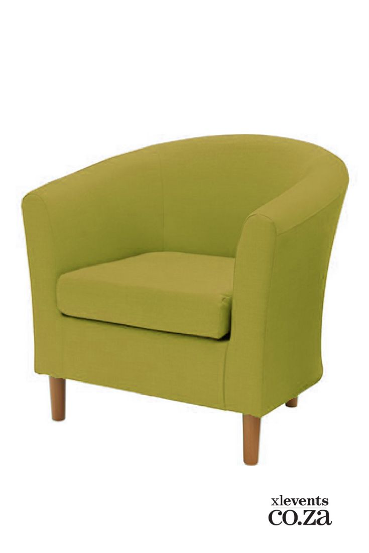 Green Tub Chair available for hire for your wedding, conference, party or event. Browse our selection of chairs and furniture in our online catelogue.
