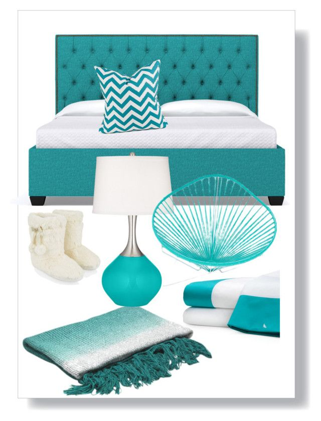 """""""Turquoise bedroom"""" by russell-mina on Polyvore featuring interior, interiors, interior design, home, home decor, interior decorating, Kate Spade, Accessorize, Innit and bedroom"""
