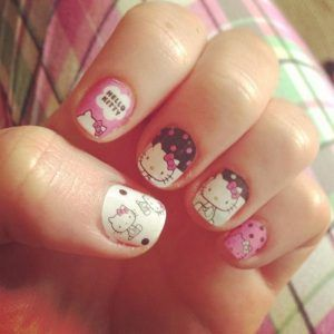 26 best hello kitty nail designs images on pinterest hello kitty hello kitty nail designs hello kitty nailsshort prinsesfo Image collections