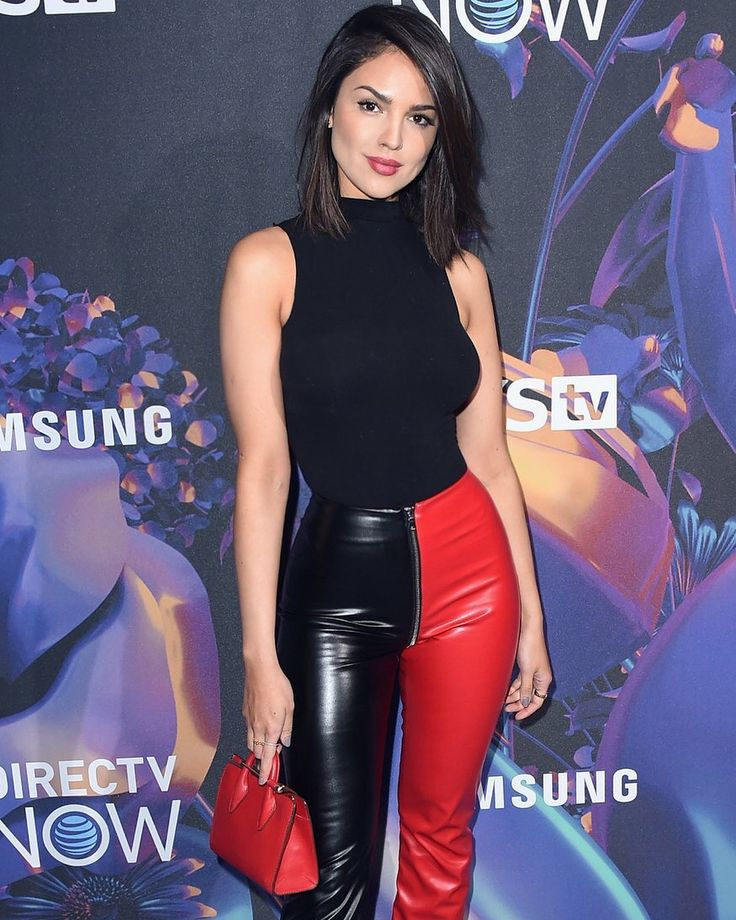 Eiza Gonzalez carries The Strathberry Nano Tote in Ruby