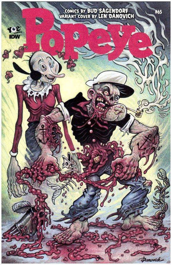 Popeye (Classic) #65 Len Danovich 1:10 Zombie Cover Variant. Click the pic and find out more...