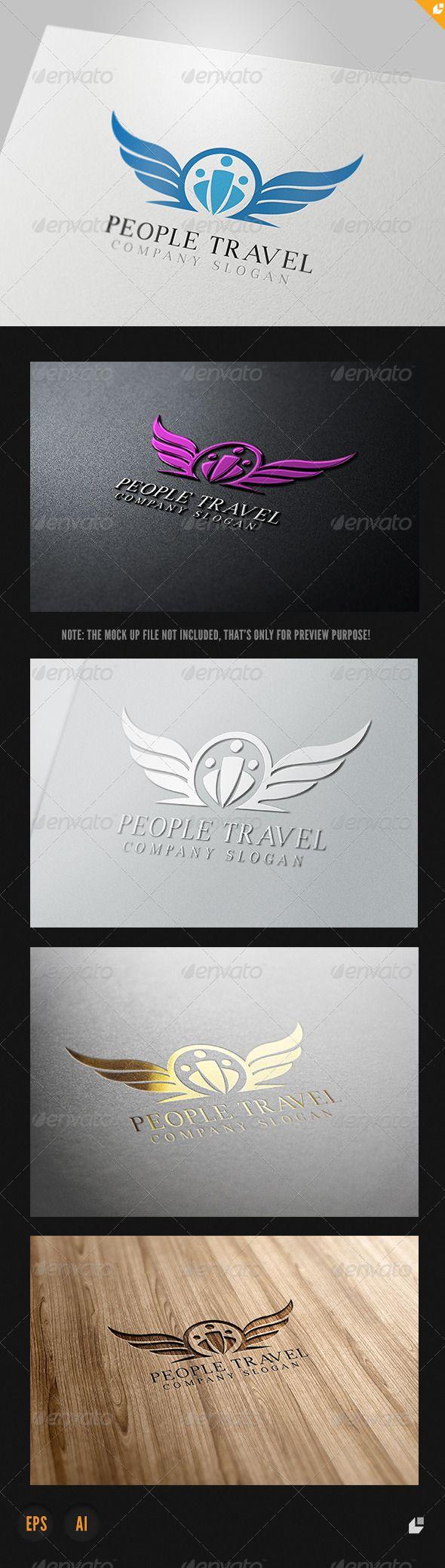 People Travel Logo Design Template Vector #logotype Download it here: http://graphicriver.net/item/people-travel-logo/4053131?s_rank=393?ref=nesto