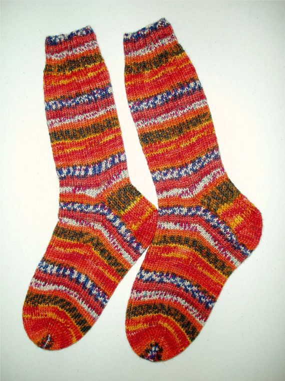 Custom Order Hand Knit Womens or Mens Wool Socks by SocksGalore, $35.00