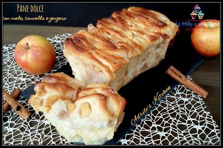 PANE DOLCE CON MELE, CANNELLA E ZENZERO (Pull apart bread)