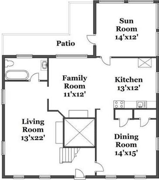 17 best images about residential floor plans on pinterest for Fireplace floor plan