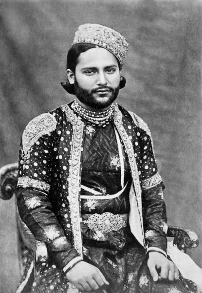 Sultan Dulah, the prince consort of Bhopal -photo captured in November, 1901