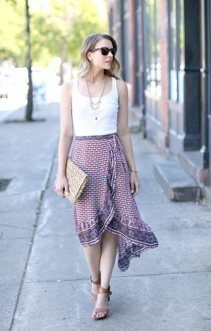 nice Ruffled Wrap Skirt