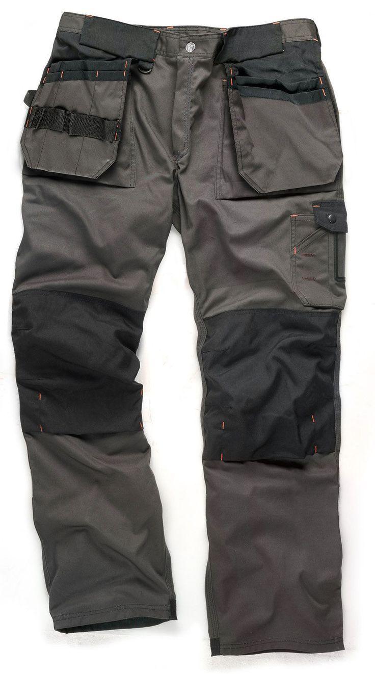 Scruffs Trade Hardwearing Graphite Grey Work Trousers (Various Waist/Leg Sizes) | eBay