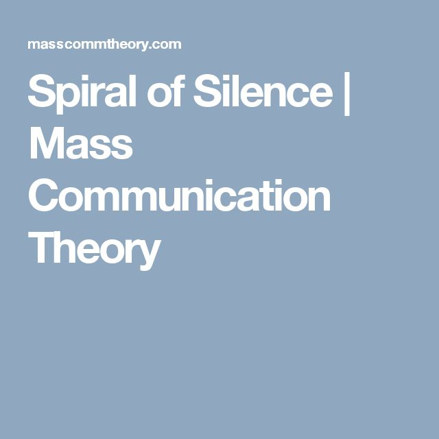 Spiral of Silence | Mass Communication Theory