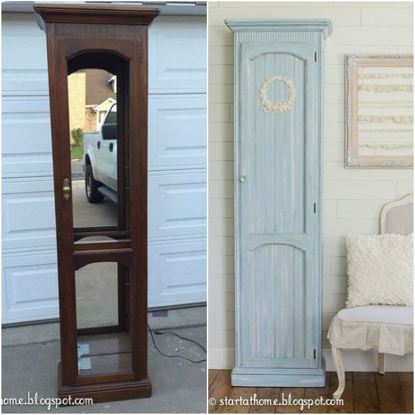 Nice 12 Brilliant Things You Can Make From Common Thrift Store Finds. Glass  Display CabinetsCurio ...
