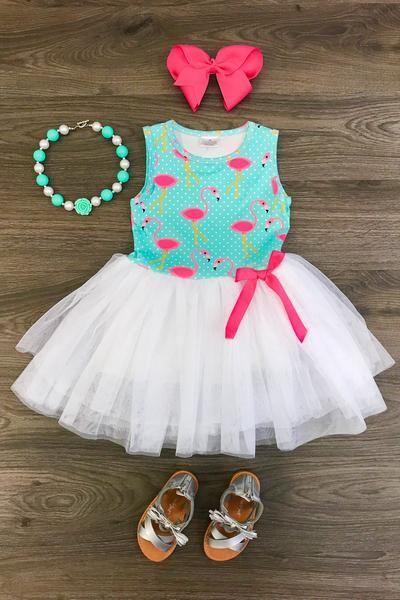 Flamingo Fun Tutu Dress - Sparkle in Pink  c95bef936ab6