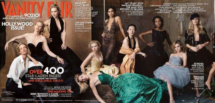 2005  From left: Uma Thurman, Cate Blanchett, Kate Winslet, Claire Danes, Scarlett Johansson, Rosario Dawson, Ziyi Zhang, Kerry Washington, Kate Bosworth, and Sienna Miller.