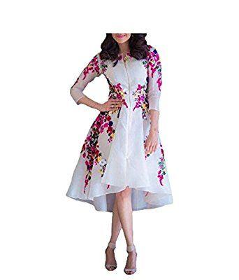 Sanjana Collection Women's Princess Cut Dress (mf-:291_Free Size_White)