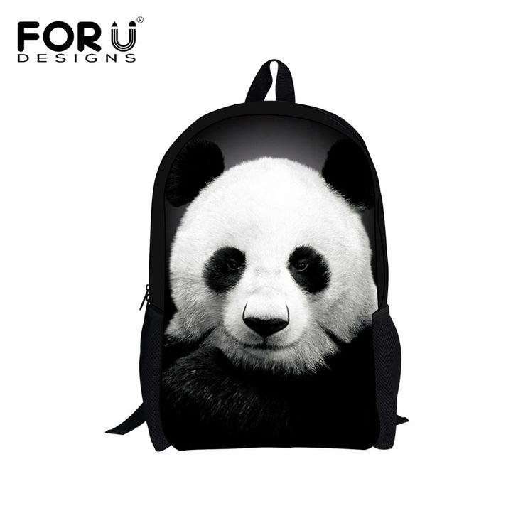 FORUDESIGNS Supreme Customize Backpack Cute Animal Panda Printing Children School Backpack Teenager Boys Girls Rucksack Book Bag