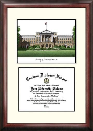 university of wisconsin badgers mahogany diploma frame lithograph