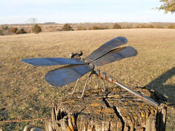Dragonfly Metal Sculpture Yard Art Garden Art Found by beckandme