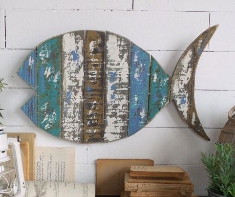 Vintage Fish Fali dekoráció