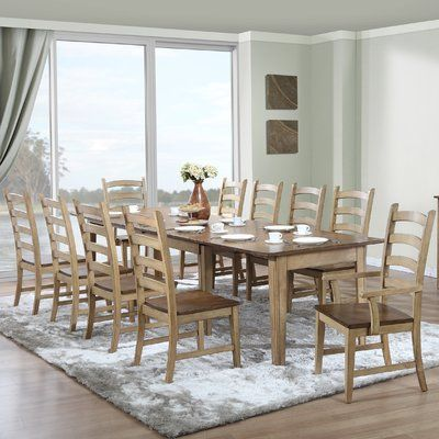 This Dining Table Is All About Versatility. Constructed Of Solid Rubberwood  And Finished In A Two Tone Chalk And Coffee Bean Finish, Pronounced  Distressing ...