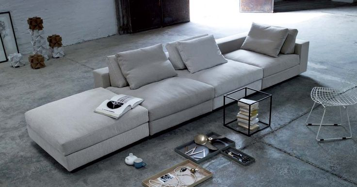 Great Pampas Sofa by Eilersen, Denmark Sit anywhere you like. Sit any way you like. Sit as many as you like. Eilersen's latest addition to the floaters indulges itself in extravagance and luxury. #furniture #modernfurniture #livingroom #sofa #fabricsofa