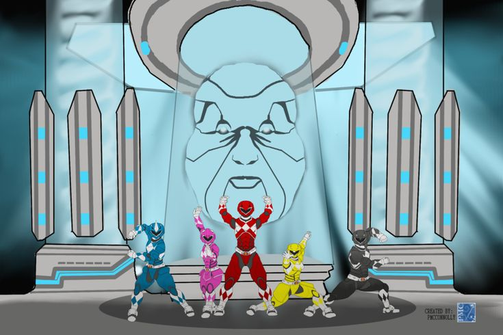 Zordon and Rangers  by pmcconnolly