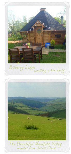 Luxury Yurt Glamping Holidays - Secret Cloud House Holidays - Peaceful Retreats - Peak District, Staffordshire, Derbyshire, Hen Parties, Woo...