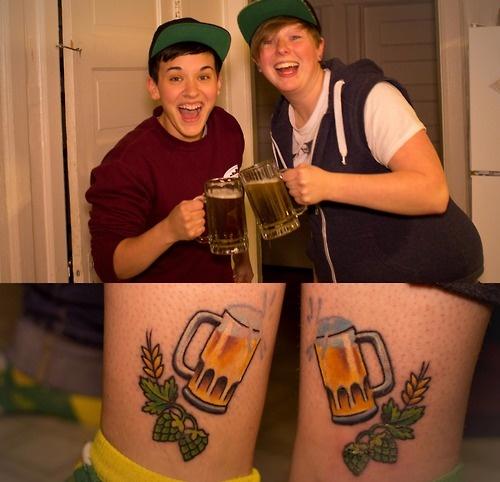 Фото татуировок пиво
