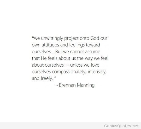 Brennan Manning quote with wallpapers