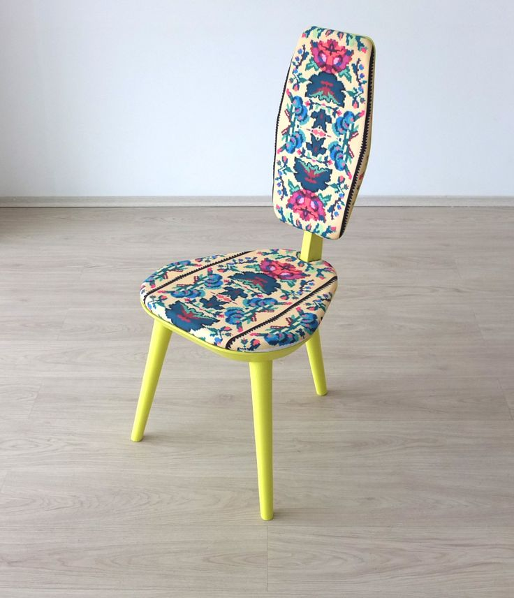 'Photoliu designed their first chair inspired from Romanian traditions and motifs. The pattern is made by fashion designer Lana. Such a wonderful piece! More info at info@photoliu.com