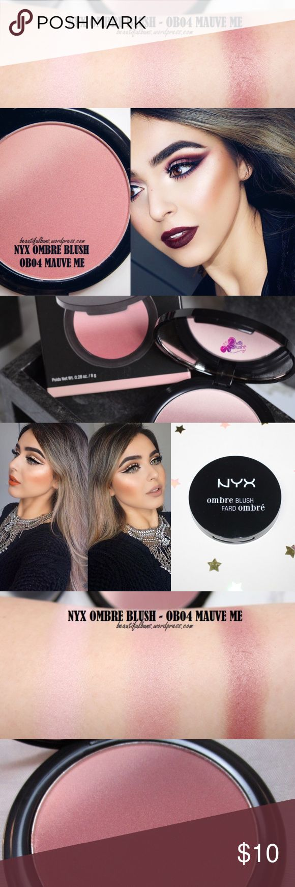 🔅NEW NYX Ombré Ombré Blush *Mauve Me*🔅W/GIFTS!😍 🔅BRAND NEW & UNOPENED🔅NYX OMBRÉ BLUSH IN *MAUVE ME*🔅Treat ur cheeks to a *radiant* flash of color w/ NYX's NEW Ombré blush, a new gradient blush inspired by the latest ombre trend! This must have formula features 2 silky colors blended into one perfectly coordinated shade combo! It's like they were meant for each other!🔅EXPEDITED SHIPPING🔅BUNDLE W/ ONLY 2 MORE ITEMS FOR AN *ADDITIONAL* 15% OFF OR W/ 1 MORE ITEM FOR AN *EXTRA* 10%…