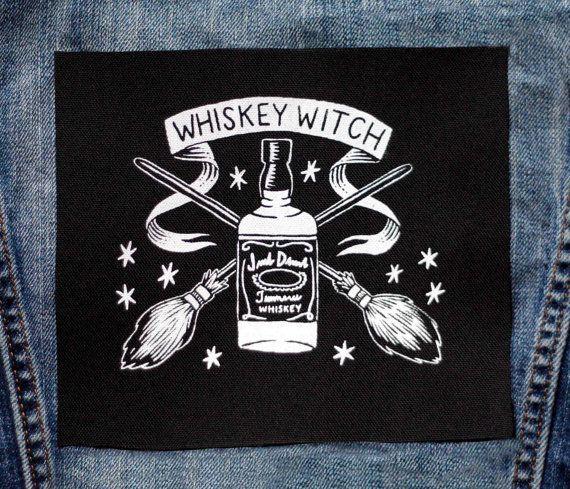 Whisky sorcière Patch - noir