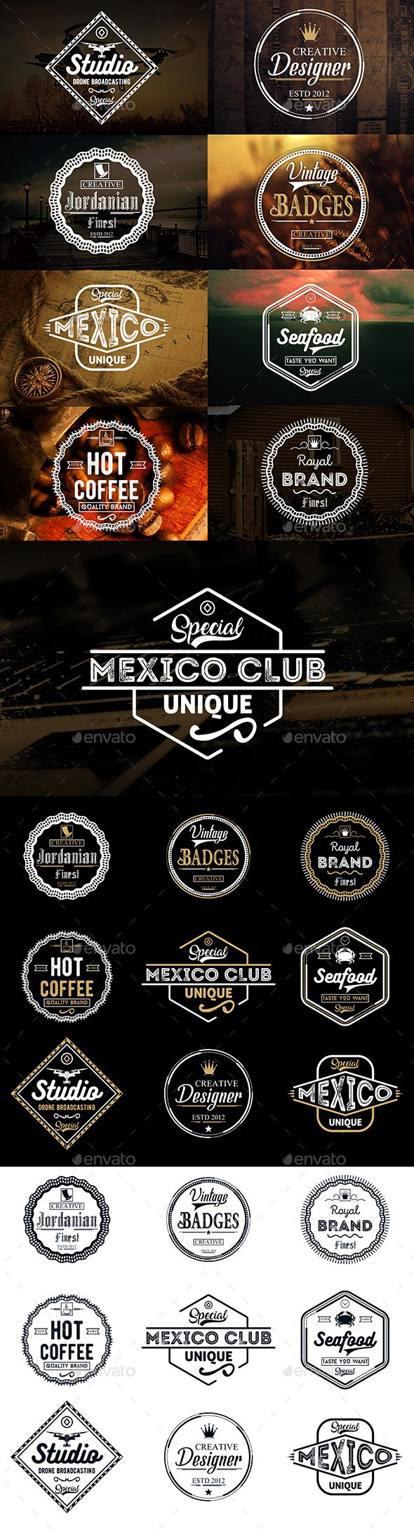 Vintage Badges & Logos