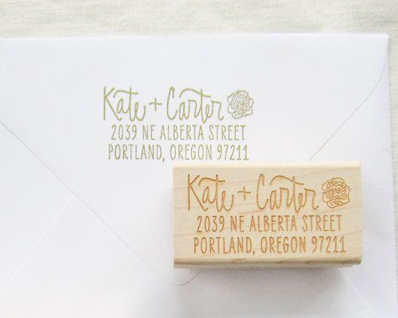 Custom address stamp  return address stamp  by papersushi on Etsy