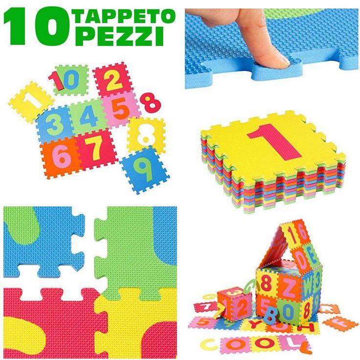 Tappeto per bambini da pavimento 10 pz puzzle neonato