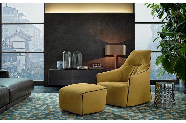 Santa Monica Lounge Armchair by J. M. Massaud for Poliform   Poliform Australia