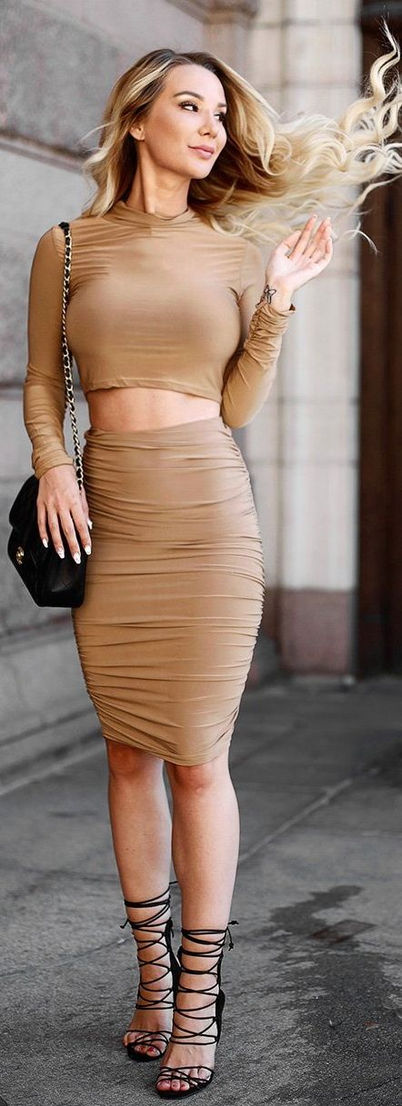 Two Piece Bodycon Dress
